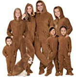 Footed Pajamas - Family Matching Hoodie Onesies | Chenille One Piece Boys, Girls, Men, Women Pjs and Pets Sweaters
