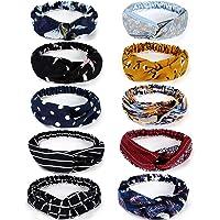 Bascolor Stirnband Damen elastische Haarband Kopfband Weich Turban Stirnband für Alltag Yoga Sport Fitness