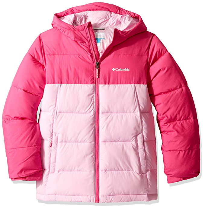 Columbia Youth Pike Lake Jacket, Waterproof & Breathable, XX-Small, Pink Ice, Pink Clover