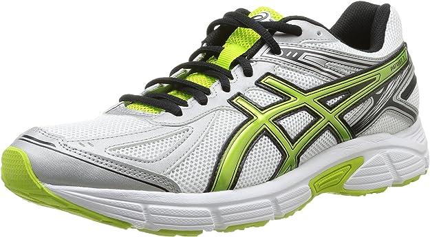 Asics Patriot 7 - Zapatillas de running para hombre, color blanco / plata / verde, talla 44.5: Amazon.es: Zapatos y complementos