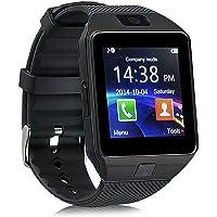 Smartwatch DZ09 Relógio Inteligente Bluetooth Gear Chip Android iOS Touch Faz e atende ligações SMS Pedômetro Câmera - PRETO