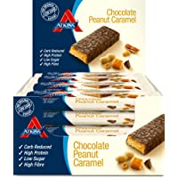 Atkins Chocolate Peanut Caramel, Low Carb, High Protein Snack Bar, 16 x 60g