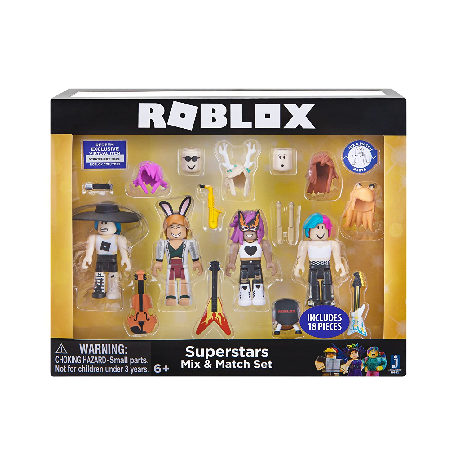 Roblox Celebrity Mix & Match Figure 4 Pack, Superstars