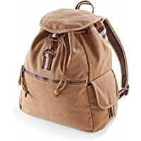 Quadra - Sac à Dos en Toile Look usé Vintage Desert Canvas Backpack QD612 - Adulte Mixte Homme Femme