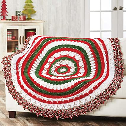 Herrschners Simple Shells Baby Throw Crochet Afghan Kit Best