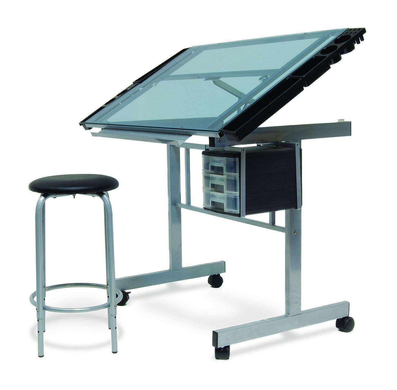 Amazon.com: Studio Designs 10055 2 Piece Vision Craft Center, Silver/Blue  Glass