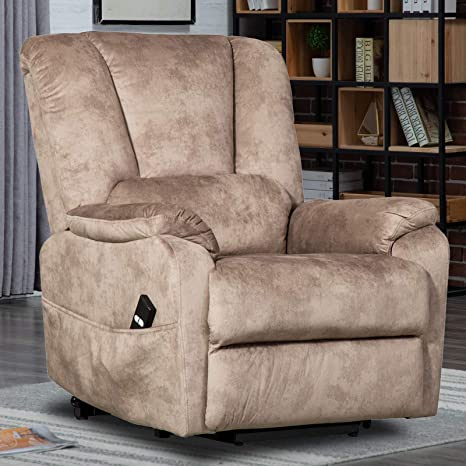 Marvelous Canmov Power Lift Recliner Chair For Elderly Heavy Duty And Safety Motion Reclining Mechanism Antiskid Fabric Sofa Living Room Chair With Overstuffed Ibusinesslaw Wood Chair Design Ideas Ibusinesslaworg