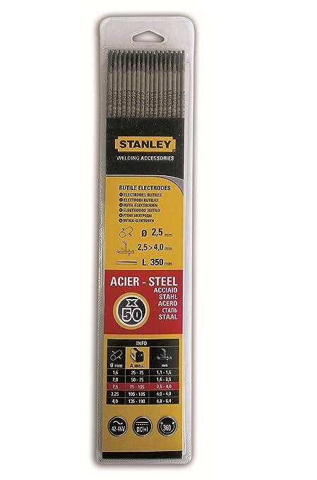 Stanley swa90484 50 x 2,5 mm Propósito general de electrodos de soldadura