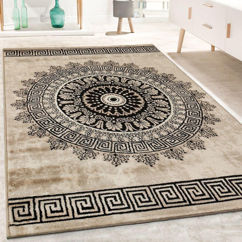Paco Home Designer Teppich Kurzflor Geometrische Wohnzimmer Meliert