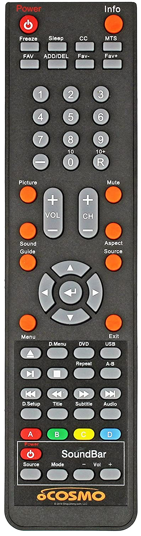 純正 oCosmo V2-GR テレビ DVD コンボ リモコン oCosmo TVs E32 CE3200V-WX2201P71 E32 CE3200V-XVN020に対応   B07PMFY4T8