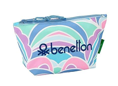 "Benetton ""Arcobaleno"" Oficial Mochila Escolar Infantil Porta Maquillaje 230x80x120mm"