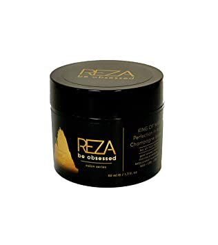 Amazon Com Reza King Of Wax Luxury Styling Hair Cream Long Lasting Hold Shiny Finish Sulfate Free Paraben Free Non Toxic For Men 1 7 Fl Oz Beauty