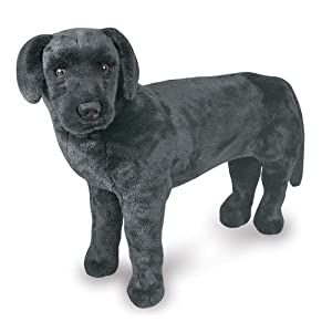 Melissa & Doug Black Lab Giant Stuffed Animal (Wildlife, Soft Fabric, Beautiful Black Lab Markings, 30.5 H x 19.5 W x 9.5 L, Great Gift for Girls and Boys - Best for 3, 4, 5 Year Olds and Up) (Color: Multi, Tamaño: Giant)