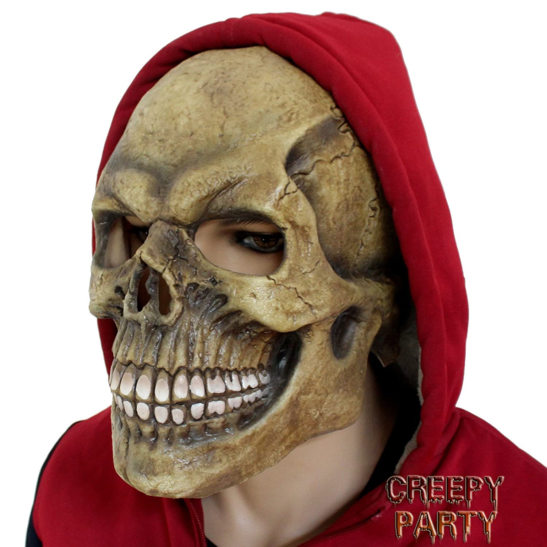 Amazon.com: Creepyparty Deluxe Novelty Latex Halloween Mask Full ...