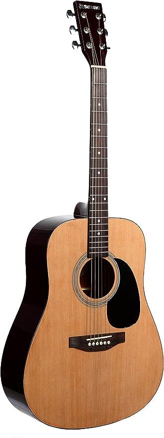 Suzuki sdg2nl guitarra Folk Natural negro: Amazon.es: Instrumentos ...