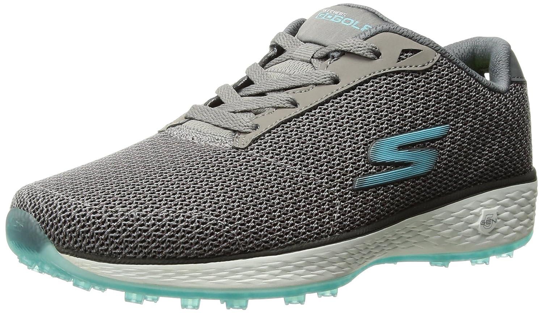 Skechers Women's Go Golf Birdie Golf Shoe B06XWVZDBD 7.5 W US|Charcoal/Blue Mesh