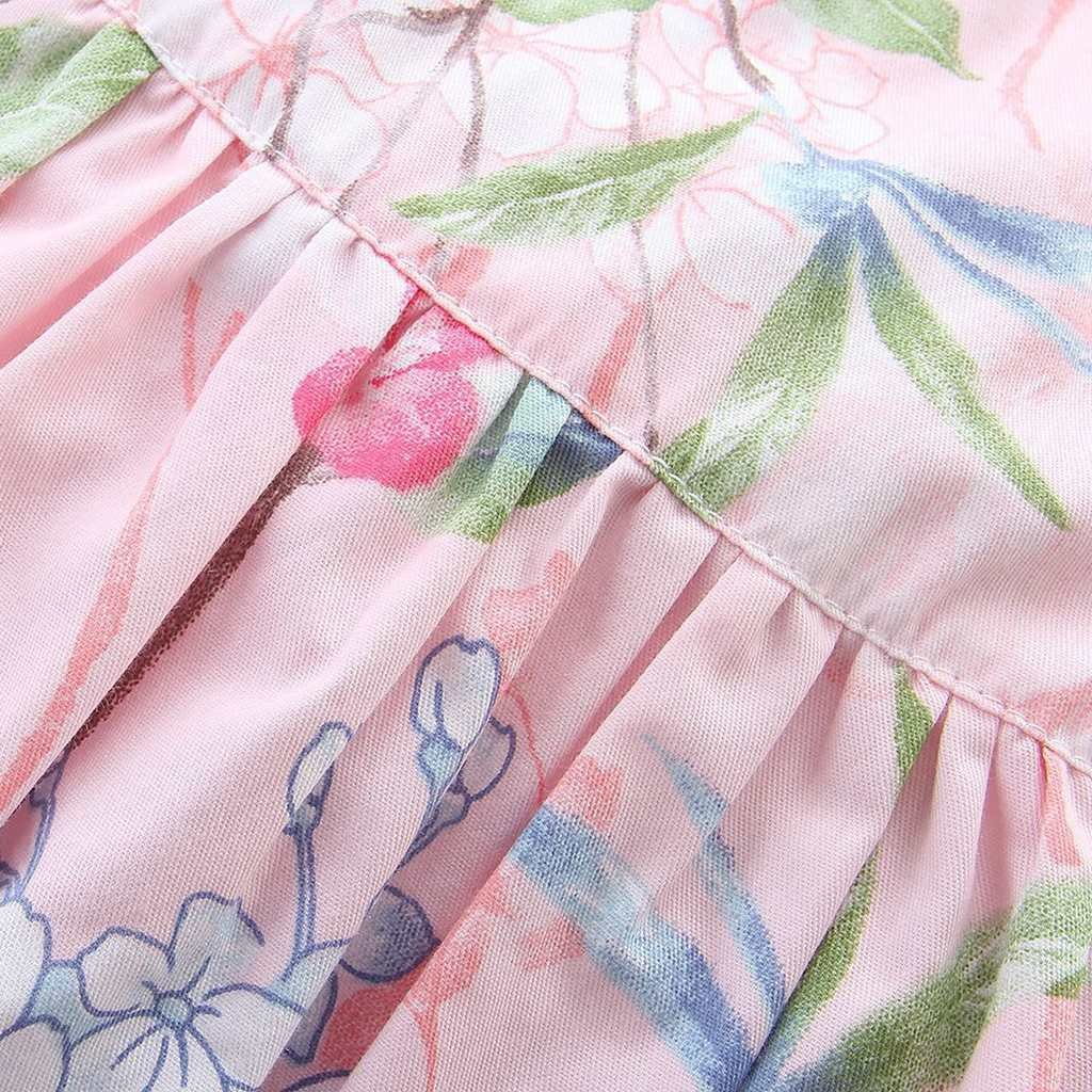 May zhang Little/Big Girls' Dress Sleeveless Cotton Dress,Girls Countryside Overalls Flower Print for Summer (Pink-17, 5/6Y) by May zhang (Image #5)