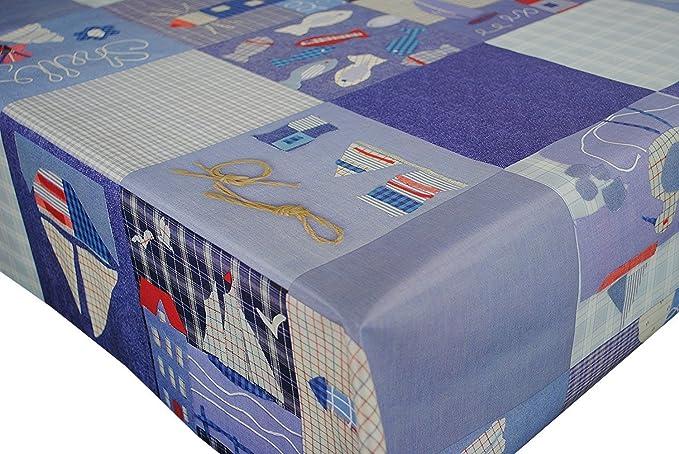 Pvc Easy Care Vinyl Table Cloth Nautical Seaside Theme Design 137cm X 200cm Amazon Co Uk Kitchen Home
