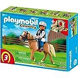 PLAYMOBIL 5109 - Haflinger mit grün-beiger Pferdebox