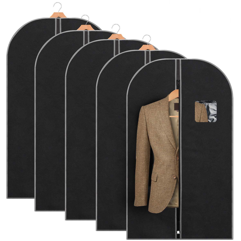 Titan Mall Garment Bag 42'' Suit Bag for Travel Breathable Garment Bag for Dress and Coat