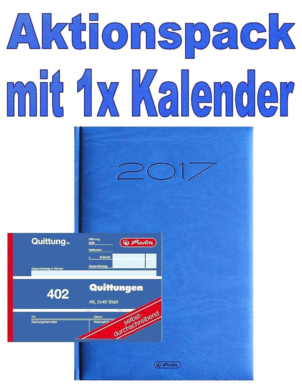Herlitz 886614 Quittungsblock A6, 2 x 50 Blatt mit Kohlepapier, 10 Stück 10 Stück Pelikan
