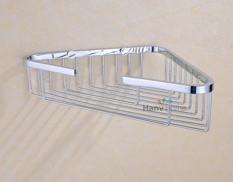 Amazon.com: HANEBATH Stainless Steel Single Tier Corner Shower Caddy ...
