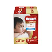 Huggies Little Snugglers Baby Diapers, Size 5, 104 Count, Huge Pack (Packaging May Vary)
