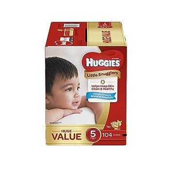Huggies Little Snugglers Baby Diapers, Size 5, 104 Count, Huge Pack (Packaging