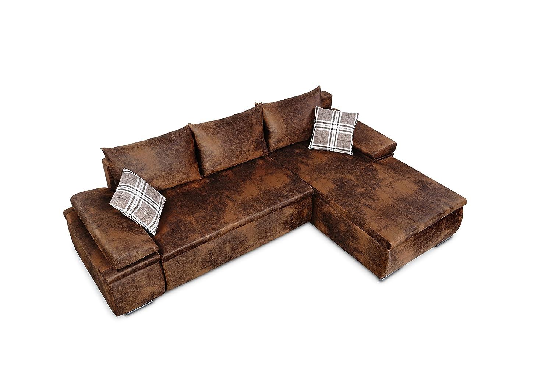 Vintage eck sofa  Mein Sofa CLVint Vintage Eckgarnitur Cali mit Schlaffunktion und ...