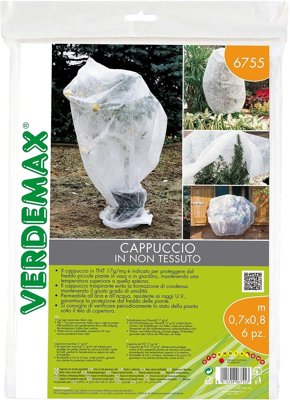 Verdemax 6755 Schutzhaube aus wei/ßem Vliesstoff 17 g//m2