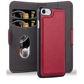 Carcasa Compuesta Apple iPhone 7-8 Plus Fibra De Carbono Rojo