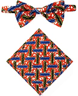 bd74c201cc46 Amazon.com: African fabric suspenders, suspenders, Bow tie, For boys ...