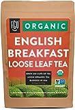 Organic English Breakfast Loose Leaf Tea | Brew 200 Cups | Blended in USA | 16oz/453g Resealable Kraft Bag | by FGO