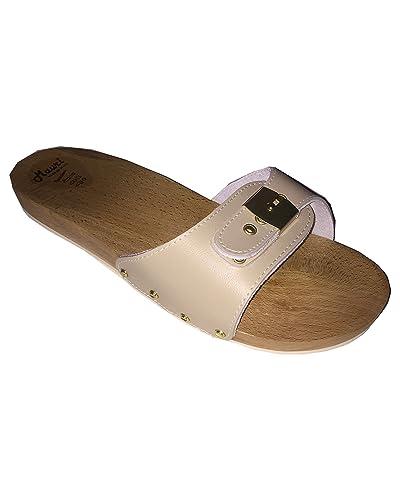vendita calda online 82d66 45d7c MAURI Zoccoli,Ciabatte da Uomo in Legno Sabbia Made in Italy (la  pantofoleria del Corso)