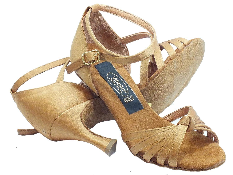 Vitiello Dance Dance Dance schuhe  Sandalo l.a. raso tanganica, Damen Tanzschuhe Braun braun B00FW4BKNK Tanzschuhe Ausgezeichnete Qualität fb3331