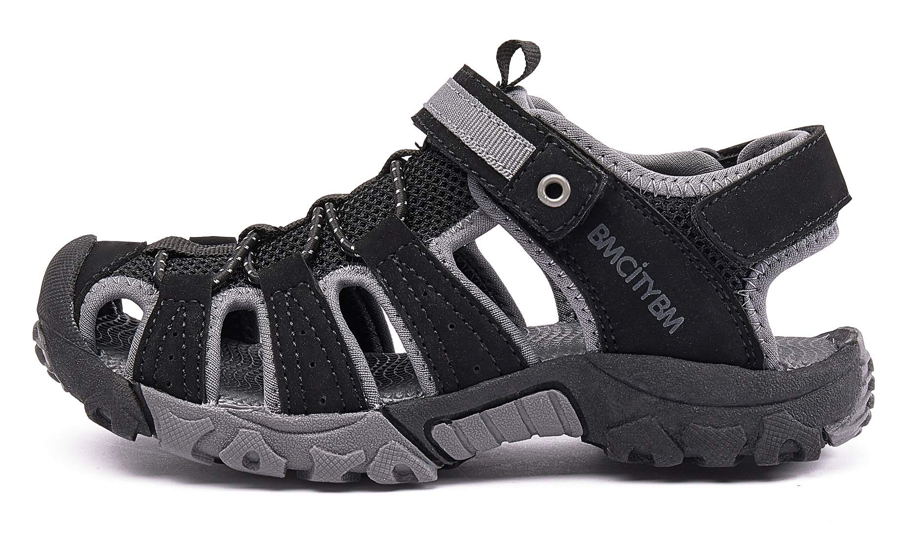 BMCiTYBM Girls Boys Hiking Sport Sandals Toddler Kid Closed Toe Water Shoes Black Size 3 by BMCiTYBM (Image #9)