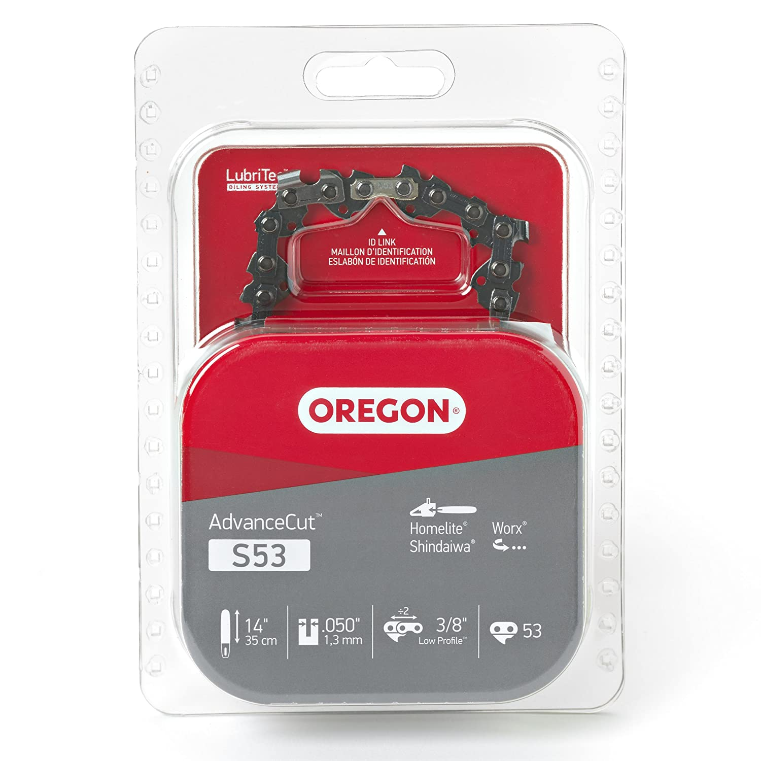Oregon S53 14-Inch Semi Chisel Chain Saw Chain Fits Craftsman, Homelite Oregon Cutting Systems