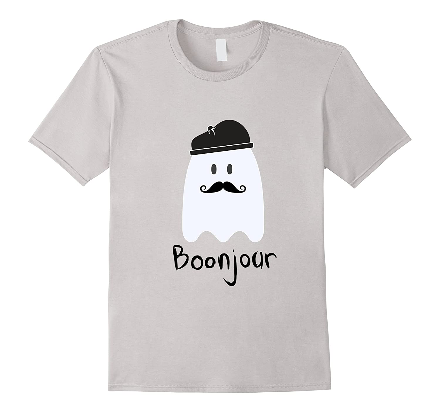 Funny French Teacher Halloween Bonjour Ghost Shirts-FL