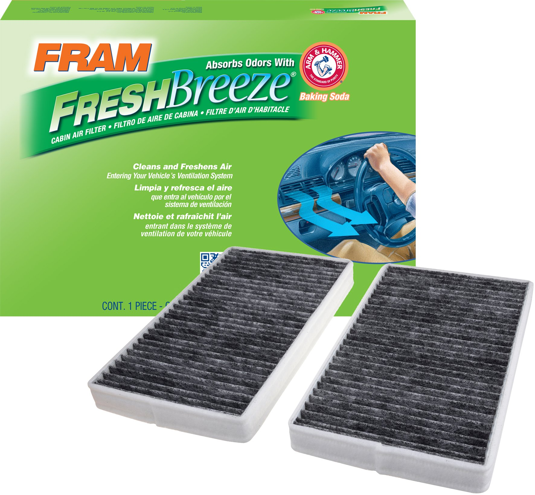 FRAM FCF8791A Fresh Breeze Cabin Air Filter with Arm & Hammer