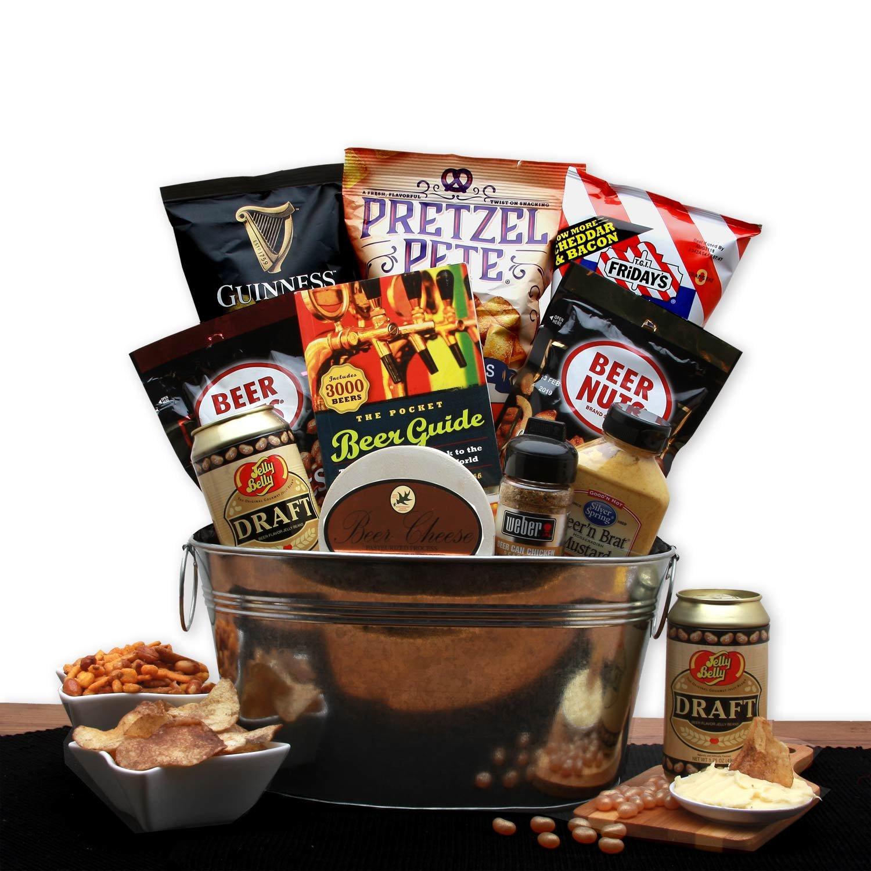 Beer Flavored Snacks and Seasonings Gift Pail