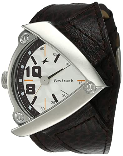2. Fastrack Bikers Analog White Dial Men's Watch -NK3022SL01