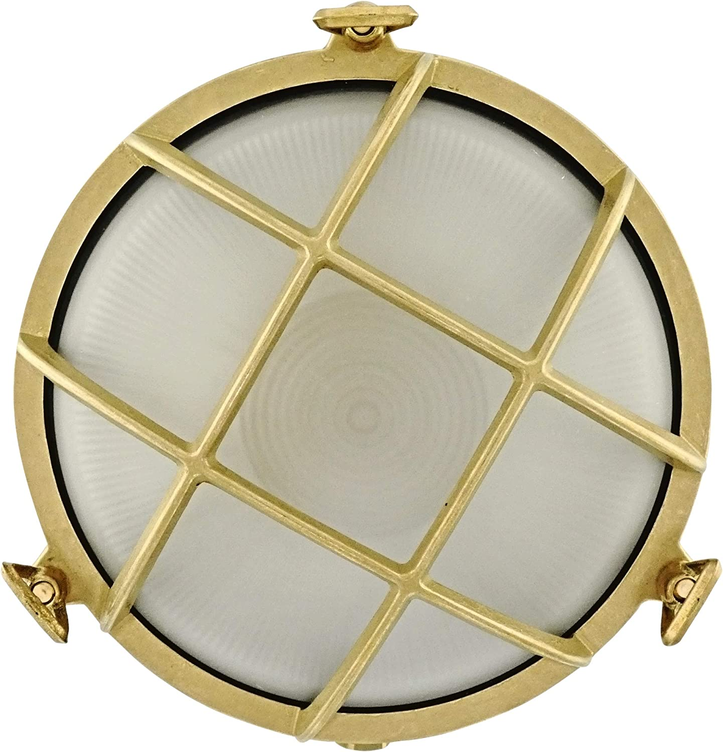 Discus Brass Bulkhead Round Light