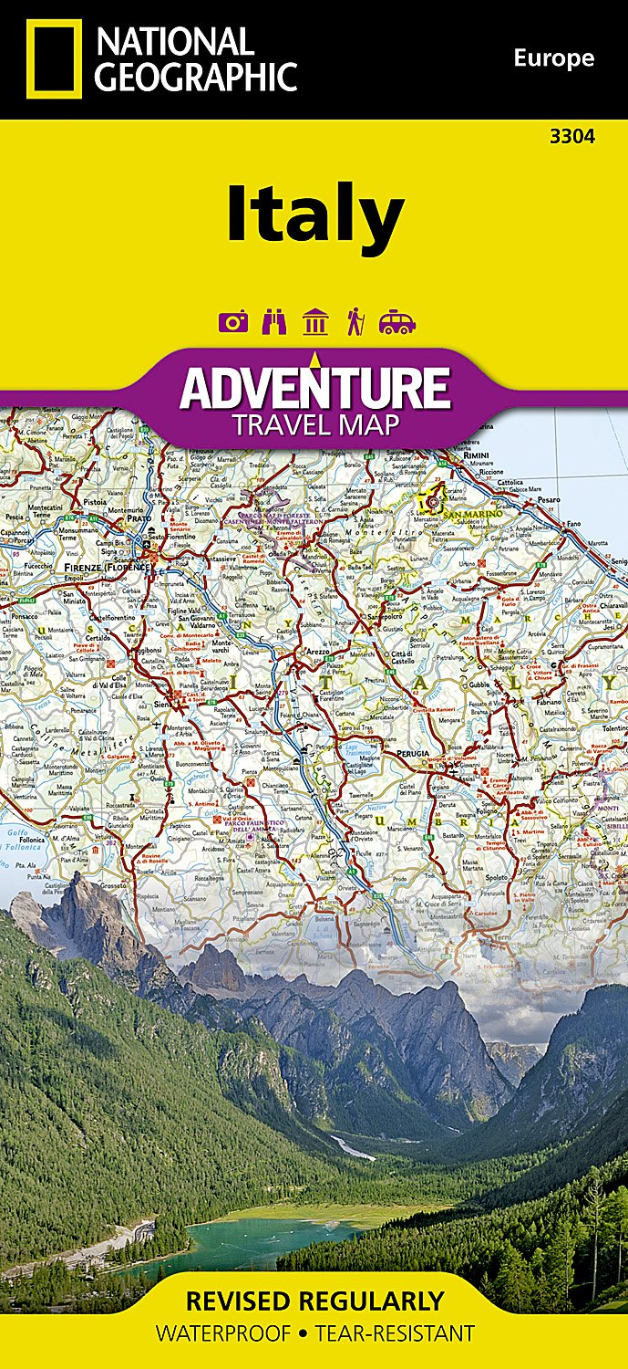 Italy National Geographic Adventure Map National Geographic Maps