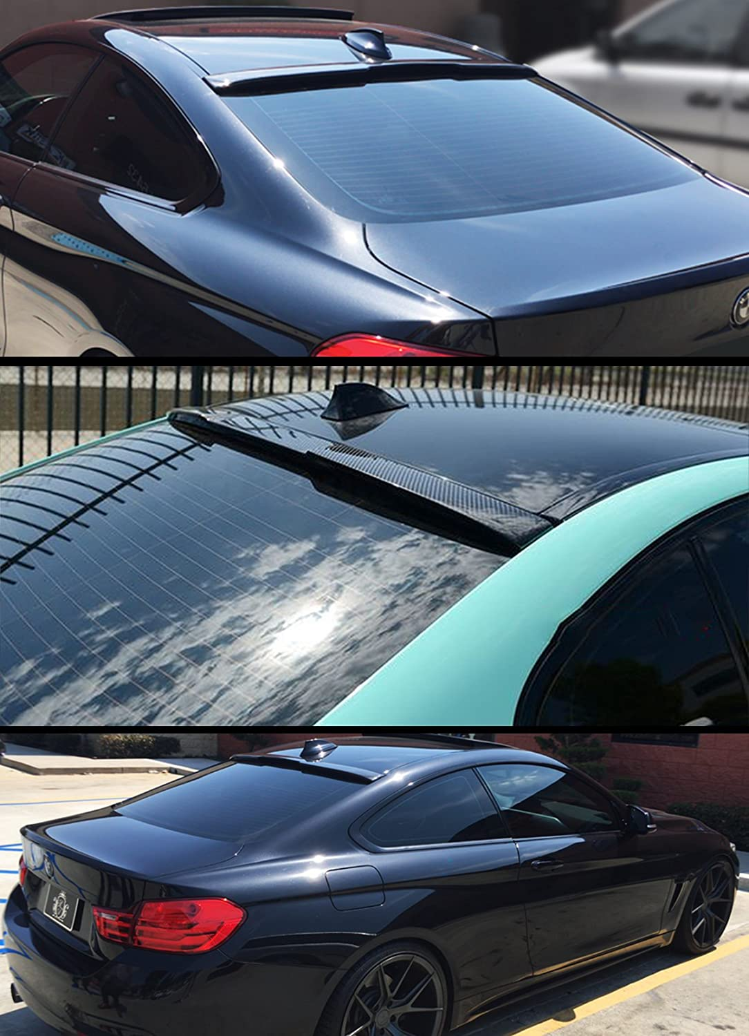 Cuztom Tuning Fits for 2014-2019 BMW F32 4 Series /& 2015-2019 F82 M4 2 Door Coupe Carbon Fiber Rear Window Roof Spoiler