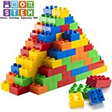 Prextex 150 Piece Classic Big Building Blocks Compatible with All Major Brands STEM Toy Large Building Bricks Set for…