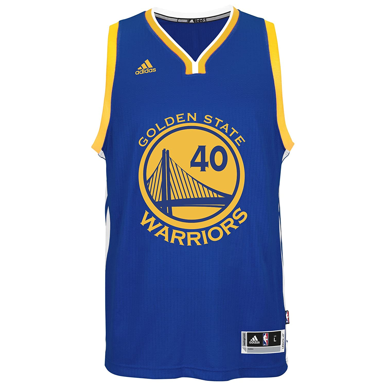 a90ecab11 Amazon.com   adidas Harrison Barnes Golden State Warriors NBA Men s Blue  Swingman Climacool Jersey   Sports   Outdoors