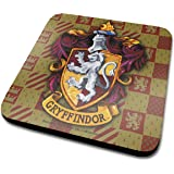 Harry Potter Gryffindor Crest Official Drinks Coaster Protective Melamine Cover with Cork Base, Multi-Colour, 10 x 10 cm
