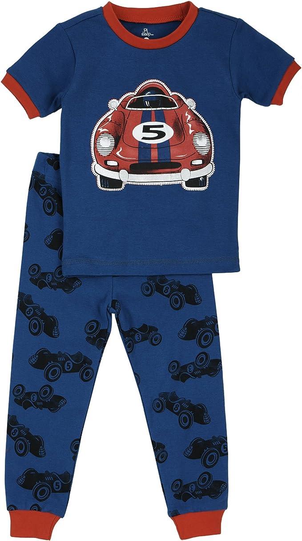 Petit Lem Spaceship 2 pc Little Boy Cotton Pajama Set Size 2