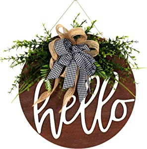 welcome sign for front door Wooden Hanging Sign for Front Porch Wreaths for Front Door Decorations for Christmas,Restaurant , Home, Outdoor