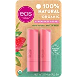 eos USDA Organic Lip Balm - Strawberry Sorbet | Lip Care to Moisturize Dry Lips | 100% Natural and Gluten Free | Long Lasting